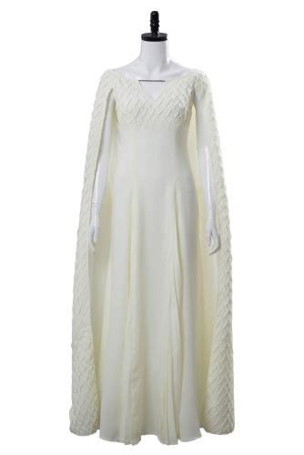 Game of Thrones Staffel S5 Daenerys Targaryen Kleid Weiß Cosplay Kostüm Kleid für Damen