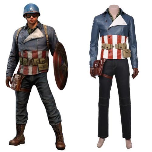 Marvel's Avengers - Captain America Cosplay Kostüm Outfits Halloween Karneval Kostüm für Alltag