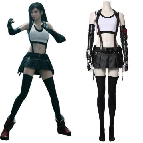 Final Fantasy VII FF7 Tifa Lockhart Cosplay Kostüm Neu