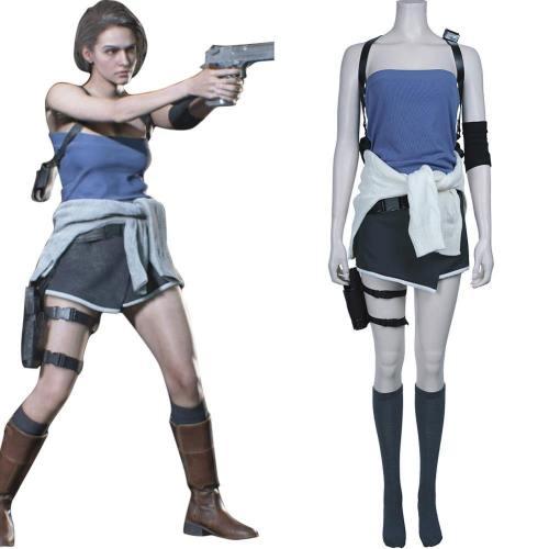 Resident Evil 3: Remake Jill Valentine Cosplay Kostüm Halloween Karneval Uniform