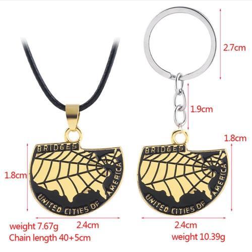 Death Stranding Necklace Schlüsselanhänger Halskette American Map Keychains Halskette