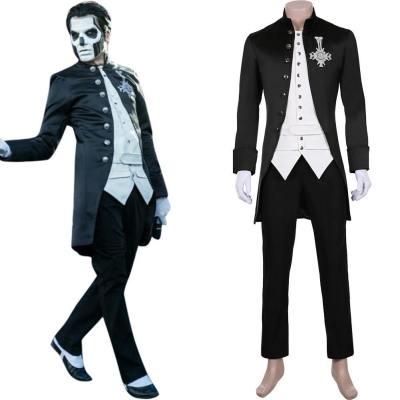 Papa Emerititus Inspired Ghost B.C. Cosplay Kostüm