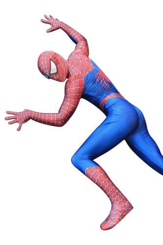 Raimi Spider-Man Peter Parker 3D Lycra Spandex Spider-man Cosplay Kostüm für Halloween Karnival Motto party