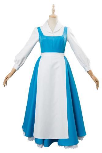 Die Schöne und das Biest Belle Kleid Dienstmädchen Kotüm Cosplay Kostüm Beauty and the Beast
