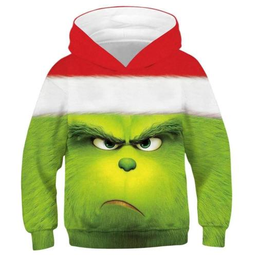 The Grinch Der Grinch Hoodie Sweatshirt Pullover mit Kaputze Pulli Hooded für Kinder