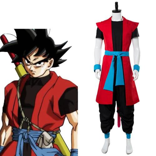 Super Dragon Ball Heroes: Universe Mission Son Goku ZENO Prison Planet Saga Super Saiyan 4 Cosplay Kostüm