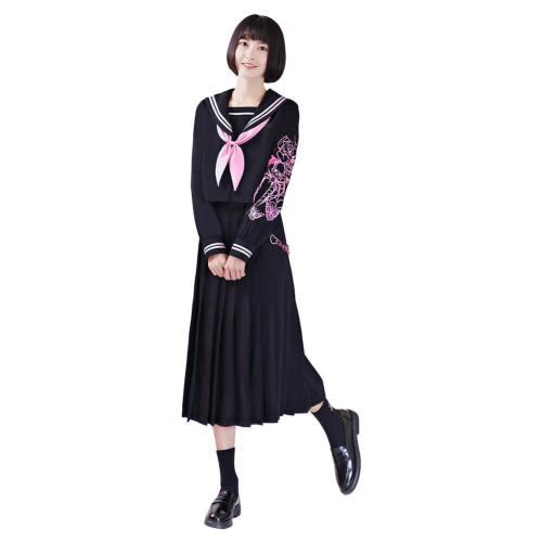 Japanische Harajuku JK Uniform Outfits langarm Schuluniform für Mädchen Studentin