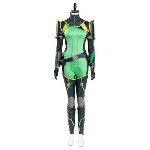 Valorant Viper Viper Cosplay Kostüm Damen Jumpsuit Romper Suit Halloween Karneval Kostüm