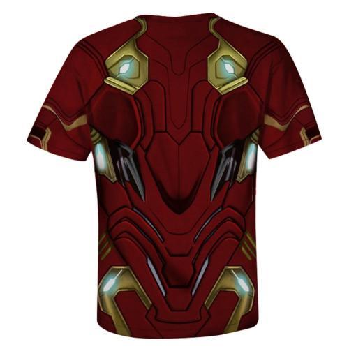 Avengers Endgame Cosplay Kostüm Iron Man Hemd Robert Downey Jr Rundhalz Kurzarm Tee Top Erwachsene