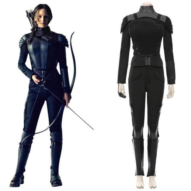 Die Tribute von Panem - Mockingjay Teil 1 Katniss Everdeen Cosplay Kostüm Outfits Halloween Karneval Kostüm