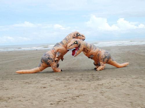 Aufblasbare Dinosaurier Kostüm Erwachsene T-Rex Jurassic Welt Cosplay Kostüm