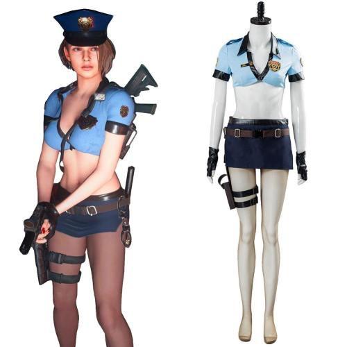 Resident Evil 3 Remake Jill Valentine Cosplay Kostüm Uniform Halloween Karneval Kostüm