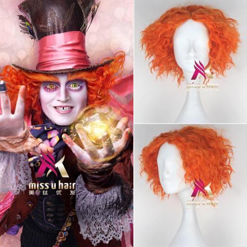 Alice In Wonderland Johnny Depp Mad Hatter Hutmacher Perücke Cosplay