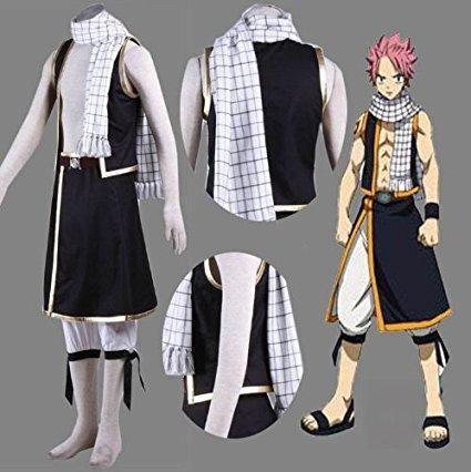 Fairy Tail Etherious Natsu Dragneel Schal Cosplay Requisite Schal Weiß