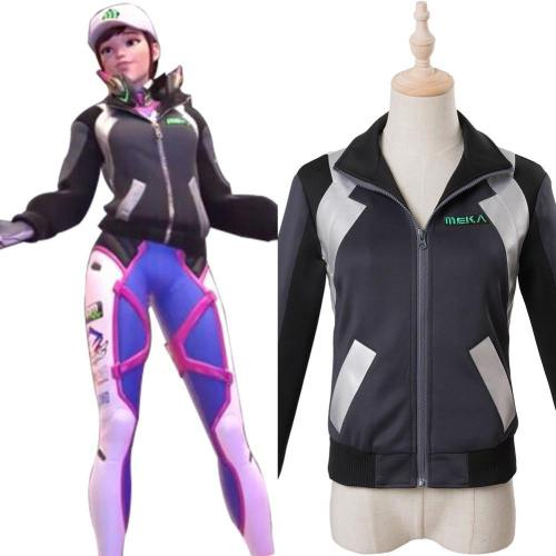 Overwatch D.Va DVA Hana Song Cosplay Kostüm Shooting Star Jacke für Alltag