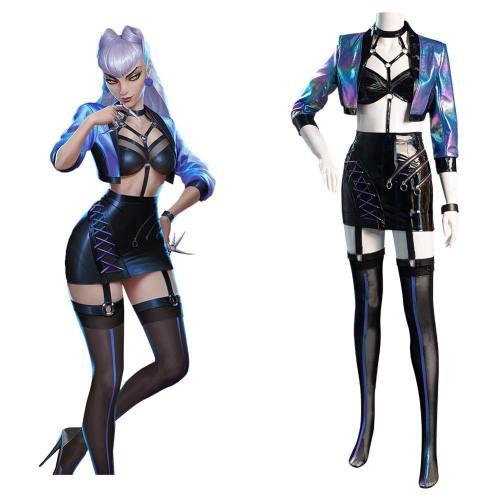 League of Legends LOL KDA The Baddest Evelynn Cosplay Kostüm Damen Halloween Karneval Kostüm