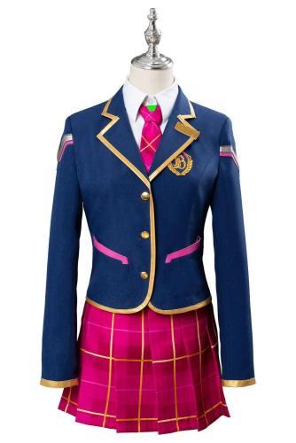 Overwatch D.VA DVA Hana Song Academy D.VA Schoolgirl Skin Uniform Cosplay Kostüm