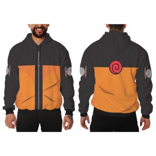 Naruto Hoodie Cosplay 3D Druck Sweatshirt Jacke mit Kaputze für Erwachsene