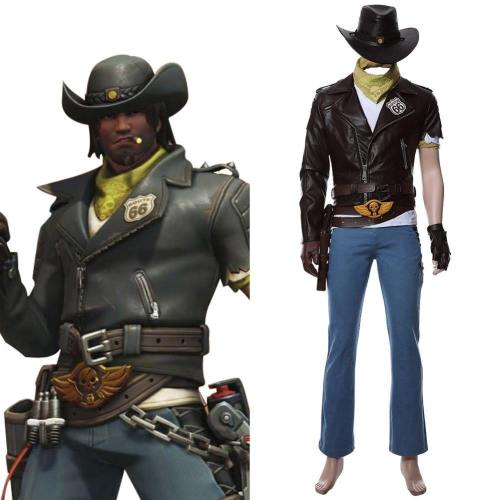 Overwatch Helden Jesse Mccree Deadlock McCree Skin Cosplay Kostüm NEU