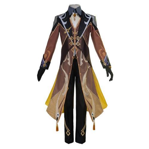 Genshin Impact Zhongli Kostüm Cosplay Halloween Karneval Kostüm