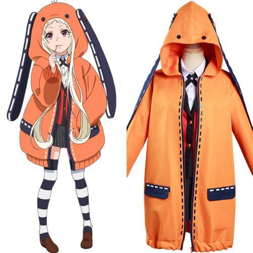 Anime Kakegurui Compulsive Gambler Yomoduki Runa Kostüm Cosplay Hoodie Jacke Hooded Jacke mit Kaputze