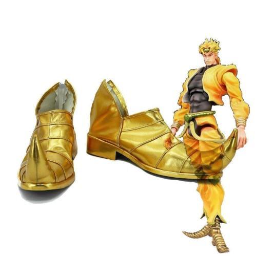 JoJo's Bizarre Adventure 3 Dio Brando Cosplay Schuhe Gold