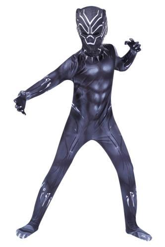 Kinder Kostüm Black Panther Cosplay Kostüm Jumpsuit für Kinder