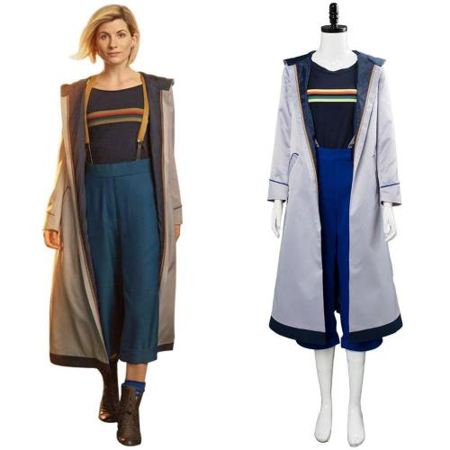 Doctor Who Staffel 11 Die Frau, die auf die Erde fiel Dreizehnter Doktor Mantel Cosplay Kostüm Damen