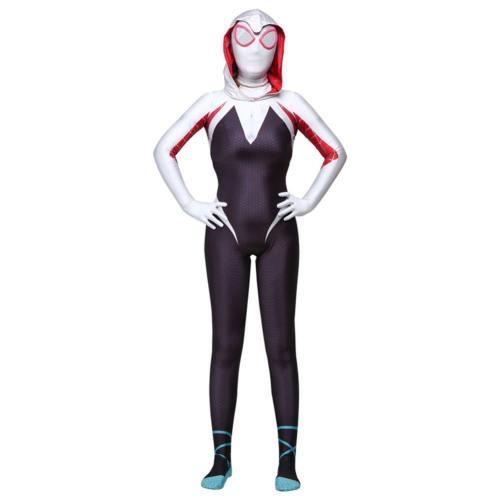 Gwen Spider Dye Gwen Stacy Red Venom Gwen Carnage Symbiote Spiderman Jumpsuit Overall Cosplay Kostüm für Kinder Erwachsene