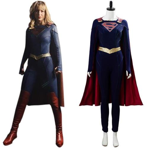 Supergirl Staffel 5 Supergirl Jumpsuit Cosplay Kostüm NEU Set