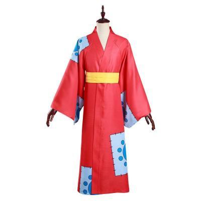 One Piece Wano Country Monkey D. Luffy Cosplay Kostüm Kimono Outfits Halloween Karneval Suit