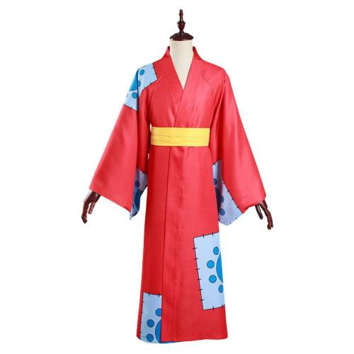 One Piece Wano Country Monkey D. Luffy Cosplay Kostüm Kimono Outfits Halloween Karneval Suit