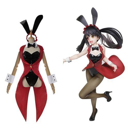 Date A Bullet Tokisaki Kurumi Bunny Girl Jumpsuit Cosplay Kostüm