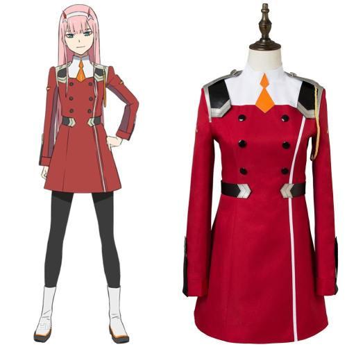 DitF Darling in the Franxx Code 002 Zero Two Uniform Cosplay Kostüm