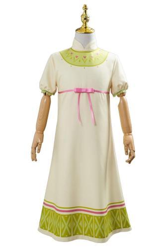 Frozen 2 Die Eiskönigin 2 Prizessin Anna Kleid Schlafzug Cosplay Kostüm für Kinder