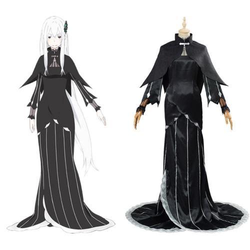 Echidna/Ekidona Re: Leben in einer anderen Welt von Null an Cosplay Kostüm Kleid Halloween Karneval Kostüm