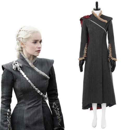 Game of Thrones Staffel 8 Daenerys Targaryen Kleid Cosplay Kostüm Ver. 3