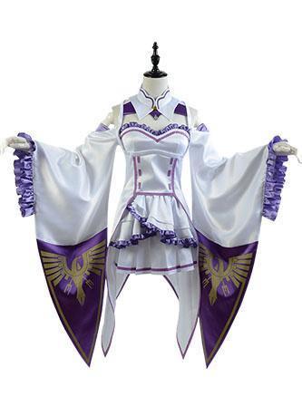 Re:Zero kara Hajimeru Isekai Seikatsu Emilia Outfit Cosplay Kostüm