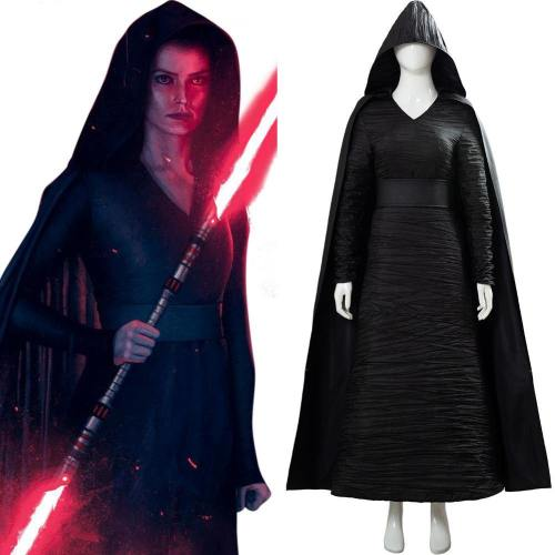 Star Wars 9 The Rise of Skywalker Teaser Der Aufstieg Skywalkers Rey Cosplay Kostüm Schwarz Version