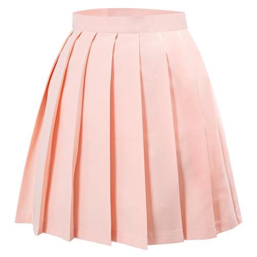 Japanische Schuluniform Faltenrock Jk Uniform Mini Röcke für Mädchen Rosa
