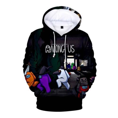 Spiel Among Us Cosplay Hoodie Erwachsene Hooded Sweatshirt Pullover mit Kaputze