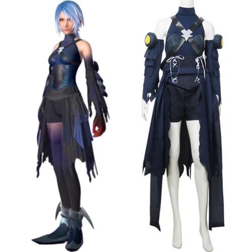 Kingdom Hearts III Aqua Kostüm Cosplay Kostüm Set