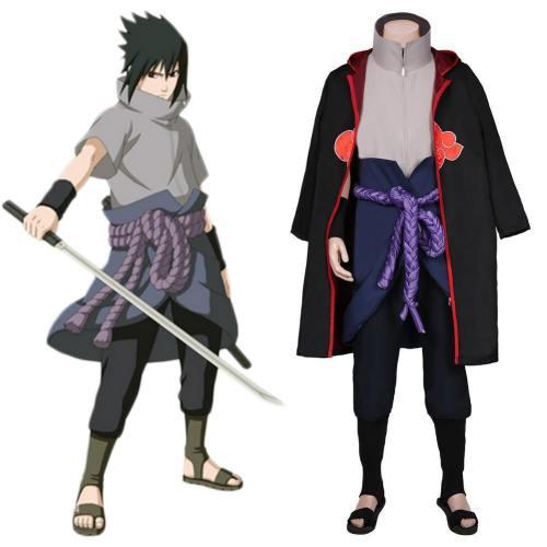 Sasuke Uchiha Karneval Naruto Sasuke Uchiha Cosplay Halloween Karneval Kostüm Set