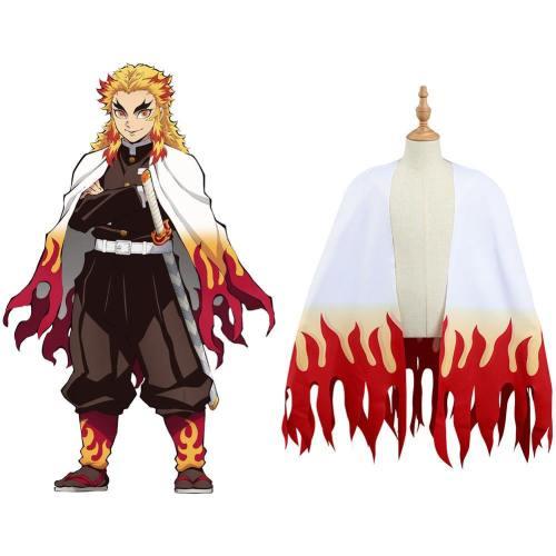 Demon Slayer Kimetsu no Yaiba Rengoku Kyoujurou Kinder Umhang Cosplay Kostüm für Kinder