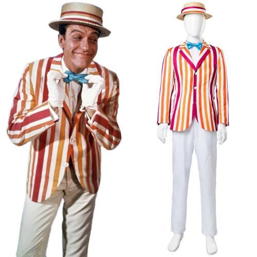 Mary Poppins Film 1964 Bert Dick Van Dyke Cosplay Kostüm