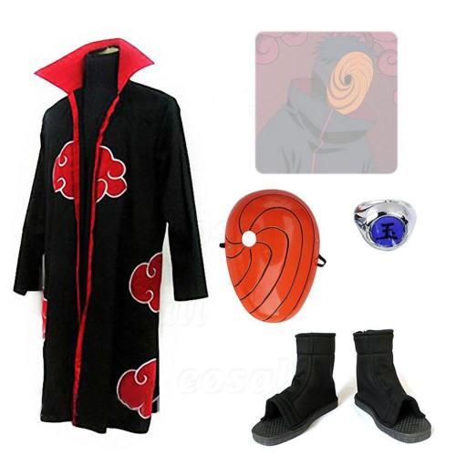 Naruto Madara Uchiha Obito Tobi Cosplay Kostum Jungen Erwachsene