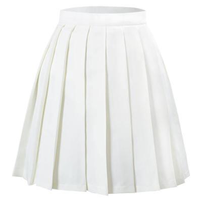 Japanische Schuluniform Faltenrock Jk Uniform Mini Röcke für Mädchen Weiß