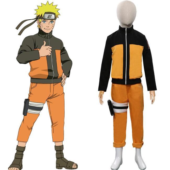 Naruto Uzumaki Naruto Cosplay Kostüm Halloween Karneval Outfits für Kinder