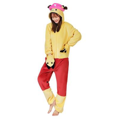 One piece Chopper Cosplay Pajama Erwachsene Unisex Schlafanzug Polyester Pyjamas Halloween Karneval Kostüme