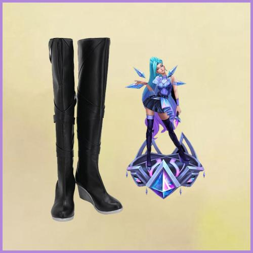 League of Legends LOL KDA The Baddest Seraphine Stiefel Cosplay Schuhe